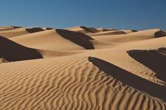 Duinen, zand, de Sahara, woestijn Royalty-vrije Stock Foto's