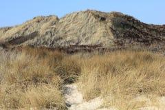 Duinen in Zuiden van het Eiland Sylt Stock Afbeelding