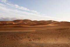 Duinenachtergrond. Marrakech, Woestijnlandschap Stock Fotografie