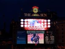 duing一即时重放'戏剧的棒球记分牌在回顾中' 免版税图库摄影