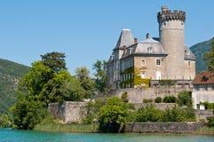 Duingt Castle, λίμνη του Annecy, Γαλλία Στοκ Εικόνες