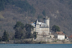 Duingt castle Royalty Free Stock Images
