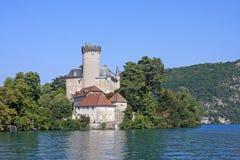 Duingt Castle, Lake Annecy Stock Photo