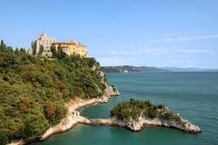 Duino城堡,意大利 库存照片
