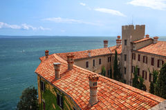 Duino Castle, Italy. Duino Castle overlooking the Gulf of Trieste on the Adriatic Sea in Italy Royalty Free Stock Photography