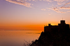 Duino castle at sunset Royalty Free Stock Photography