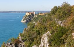 Duino Cliffs and the Castle Royalty Free Stock Images