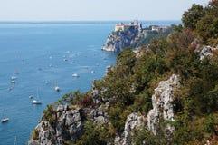 DUINO-KASTEEL Italië stock fotografie