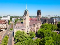 Duisburg city skyline in Germany royalty free stock photography