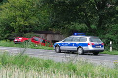 DUISBURG, GERMANY - 26 JUL 2011. Car crash accident Stock Images