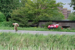 DUISBURG, GERMANY - 26 JUL 2011. Car crash accident Stock Photography