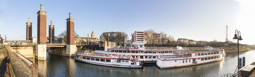 duisburg germany high definition panorama Royalty Free Stock Photo