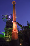 Duisburg, Germany - May 17, 2015:  Landschaftspark illuminated Stock Photo