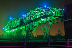 Duisburg-Nachtaufnahme Stockfoto
