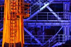 Duisburg nocy strzał Landschaftspark Obrazy Stock