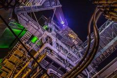 Duisburg nocy strzał Landschaftspark Fotografia Stock
