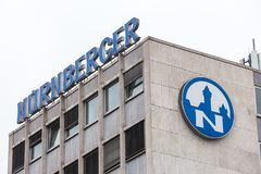 Duisburg, North Rhine Westphalia/germany - 22 11 18: nuernberger insurance sign in duisburg germany royalty free stock photography