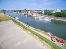 Duisburg Ruhrort aerial Royalty Free Stock Images