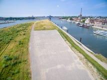 Duisburg Ruhrort aerial Stock Image