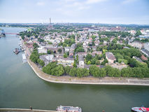 Duisburg Ruhrort aerial Royalty Free Stock Photo