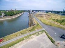 Duisburg Ruhrort aerial Stock Photos