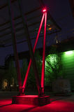 Duisburgo, Alemania - 17 de mayo de 2015: Landschaftspark iluminó Fotografía de archivo libre de regalías