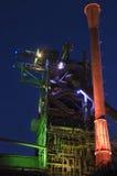 Duisburgo, Alemania - 17 de mayo de 2015: Tiro nocturno de Landschaftsp Fotos de archivo libres de regalías