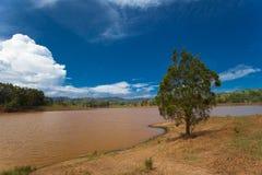 Duistere meren dichtbij Brisbane Royalty-vrije Stock Foto