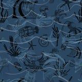 Duistere Oceaanwetenschap royalty-vrije illustratie