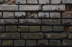 Duisternis in een oude geruïneerde bakstenen muur Stock Afbeeldingen
