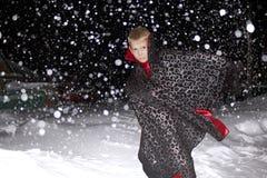 Duisternis en heel wat sneeuw royalty-vrije stock afbeeldingen
