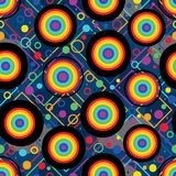 Duisternis met regenboog naadloos patroon royalty-vrije illustratie