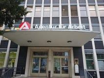 Duits Agentur-bont Arbeit stock afbeeldingen