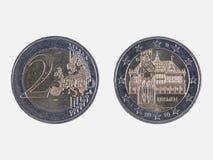 Duits euro muntstuk met het stadhuis van Bremen Royalty-vrije Stock Fotografie