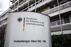 Duits Federaal Bureau voor Veiligheid in Informatietechnologie Bonn Duitsland stock afbeeldingen