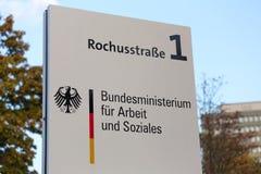 Duits Federaal Ministerie van Arbeid en Sociale Zakenteken Bonn Duitsland stock foto's