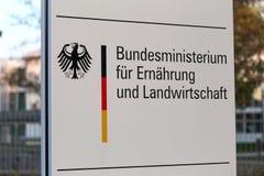 Duits Federaal Ministerie van Voedsel en Landbouwteken Bonn Duitsland stock foto's