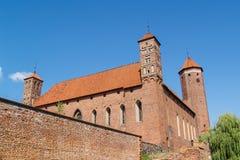 Duits Gotisch middeleeuws kasteel in Lidzbark Warminski, Polen royalty-vrije stock foto