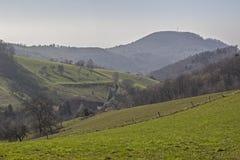 Duits landschap Odenwald Stock Foto's