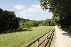 Duits landschap Odenwald Royalty-vrije Stock Afbeeldingen