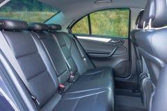 Duits luxueus limousinebinnenland - sedan, leerzetels Royalty-vrije Stock Foto's