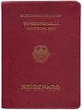 Duits paspoort, dat op wit wordt geïsoleerd Stock Foto's