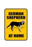 Duits Shepard Sign. Royalty-vrije Stock Afbeeldingen