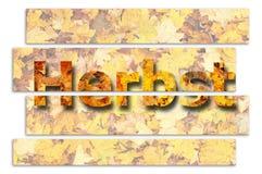 Duits woord voor de herfst Royalty-vrije Stock Afbeelding