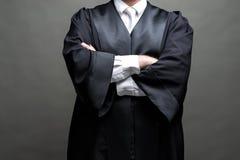 Duitse advocaat met een robe royalty-vrije stock fotografie