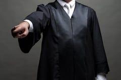 Duitse advocaat met een robe royalty-vrije stock afbeeldingen
