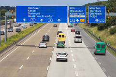 Duitse Autobahn Royalty-vrije Stock Afbeelding