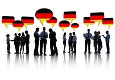 Duitse Bedrijfsmensen die een Vergadering hebben royalty-vrije stock foto