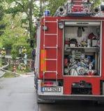 Duitse brandmotor Royalty-vrije Stock Afbeeldingen