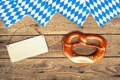 Duitse bretzels Stock Afbeeldingen
